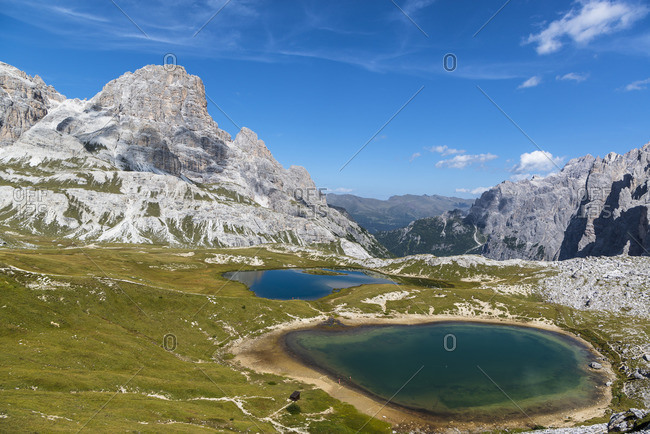 Lago dei Piani, Crodon di San Candido, Drei Zinnen Nature Park, Dolomites, South Tyrol, Italy