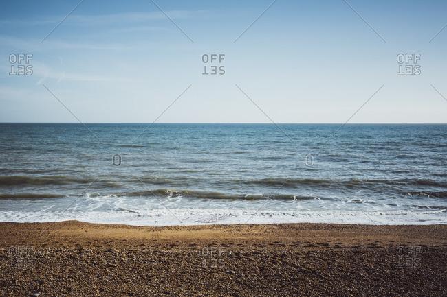 The Strand seashore in Brighton, England