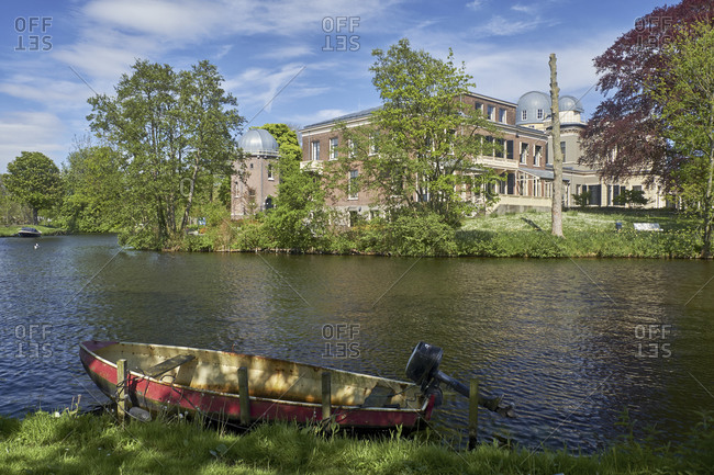 May 2, 2018: Old Observatory, Oude Sterrewacht in Leiden, South Holland, Netherlands