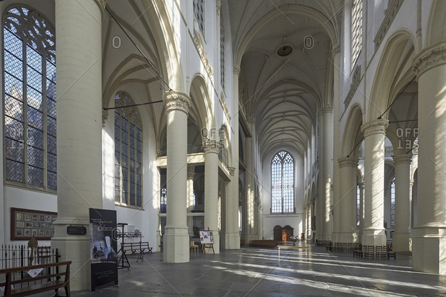 May 3, 2018: Hooglandse Kerk, Leiden, South Holland, Netherlands