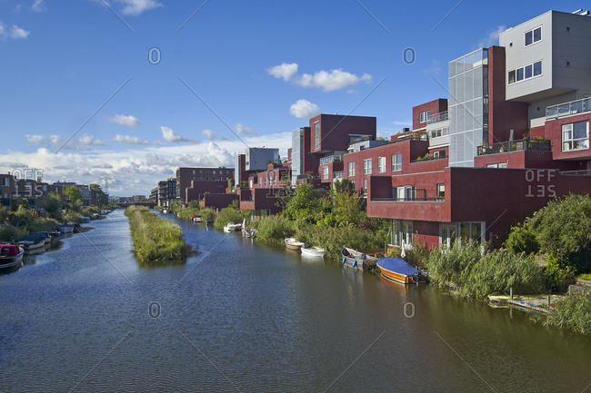 September 15, 2017: New living in the district of IJburg, Amsterdam, North Holland, the Netherlands