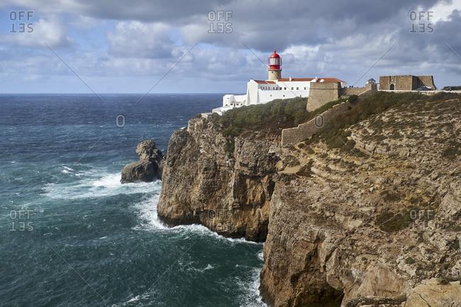 Lighthouse of Cabo de Sao Vicente near Sarges, Algarve, Faro, Portugal