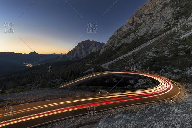 Passo di Falzarego, Falzarego Pass, Cortina d'Ampezzo, Dolomites, Italy