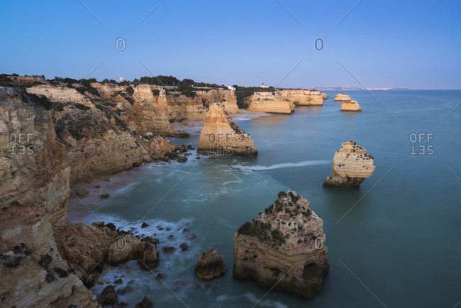 Praia da marinha at morning light, Lagoa, Algarve, Portugal