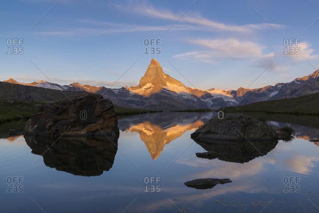 Morning atmosphere at the Matterhorn, Zermatt, Valais, Switzerland