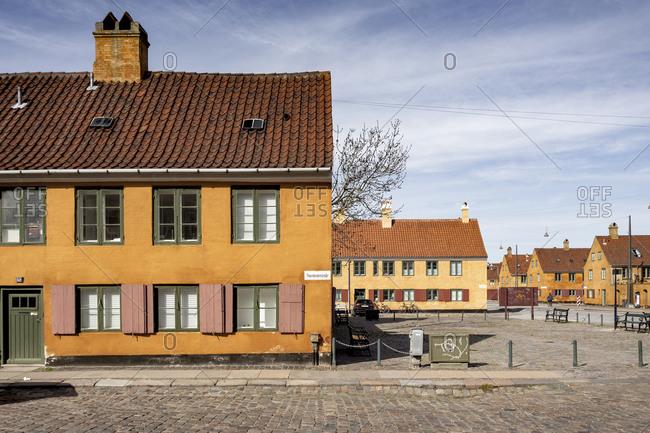 January 1, 1970: Residential buildings in Nyboder, Copenhagen, Denmark