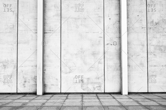 Concrete wall in black and white