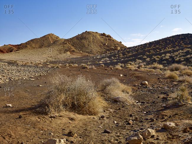 Makhtesh Ramon Crater in the Negev desert, Israel