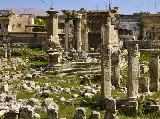 April 15, 2010: Temple of Venus temple in the ancient city of Baalbek, Lebanon, Middle East