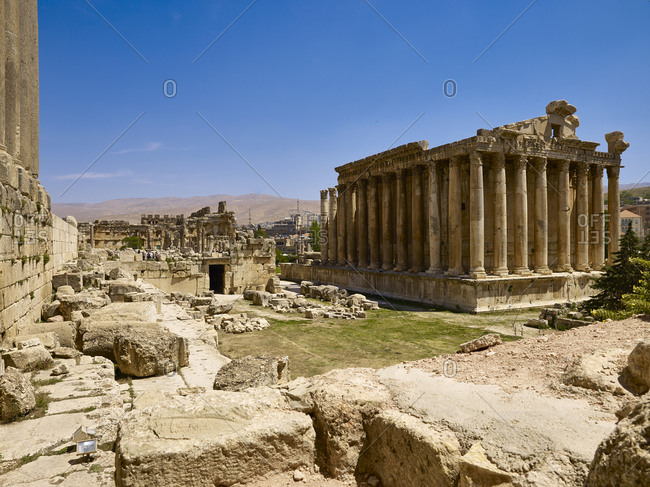 Temple of Bacchus in ancient city of Baalbek, Lebanon, Middle East