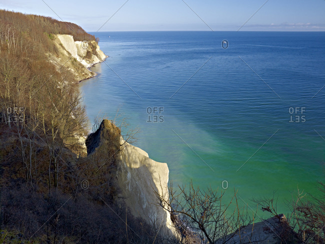 Chalk cliffs in the National Park Jasmund, Rugen, Mecklenburg-Vorpommern, Germany