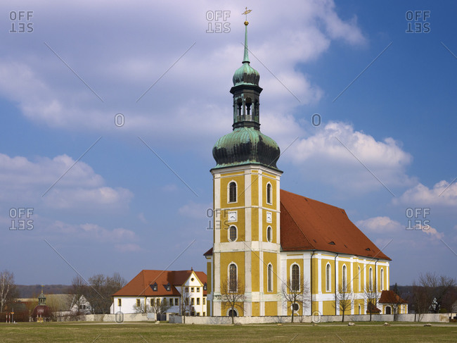 Baroque pilgrimage church in Rosenthal, Upper Lusatia, Saxony, Germany