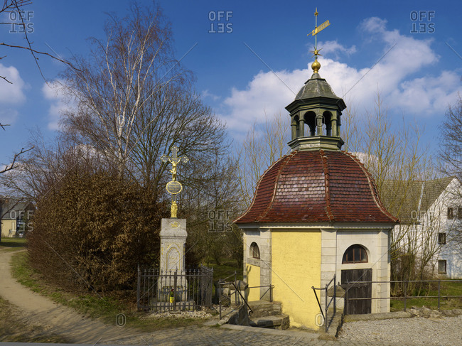 March 23, 2011: Mary's Spring at the Baroque pilgrimage church in Rosenthal, Upper Lusatia, Saxony, Germany
