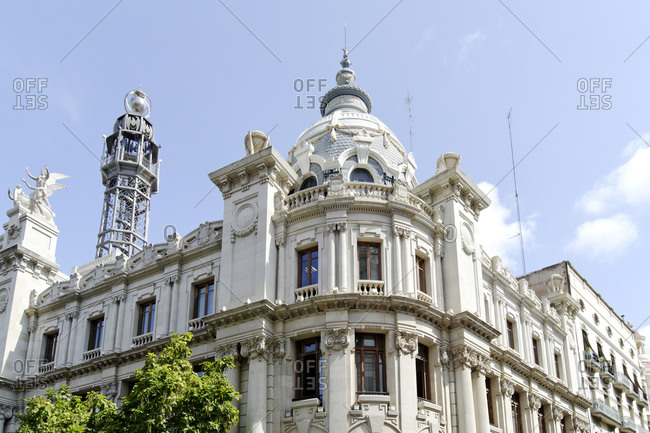 Architecture, historic facades, Valencia, Spain