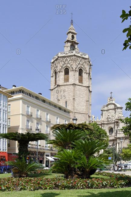 September 20, 2012: Catedral de Santa Maria de Valencia, El Micalet Tower, Plaza de la Reina, Valencia, Spain