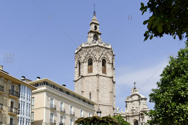 Catedral de Santa Maria de Valencia, El Micalet Tower, Plaza de la Reina, Valencia, Spain