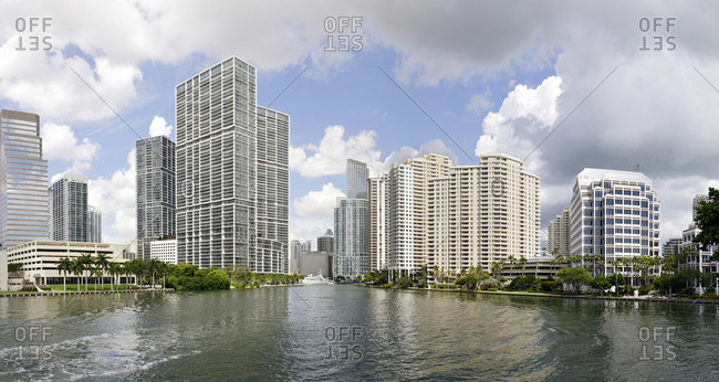 September 30, 2011: Brickell Park, Brickell Key Drive, Miami Downtown, Florida, United States