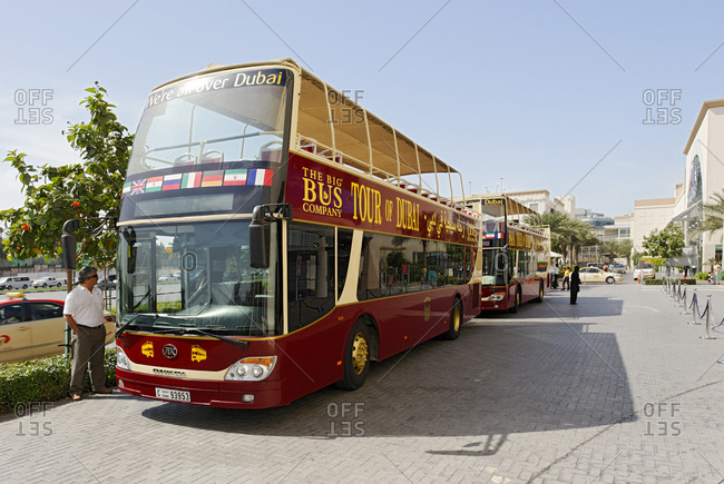 January 31, 2010: City tour bus, THE BIG BUS, center of Deira, Dubai, United Arab Emirates, Middle East