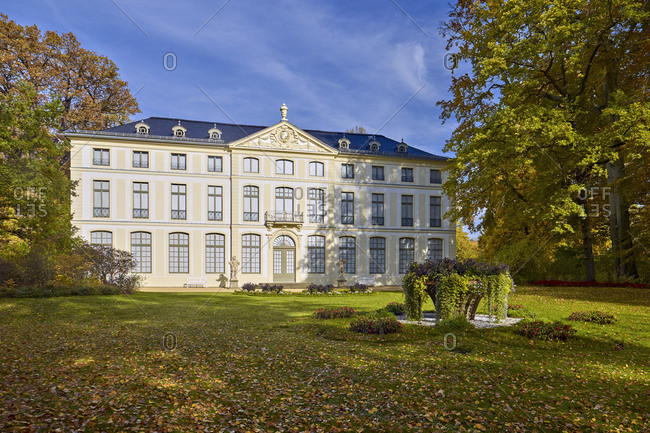 October 18, 2017: Summer Palace in the park of Greiz, Thuringia, Germany Summer Palace in the park of Greiz, Thuringia, Germany