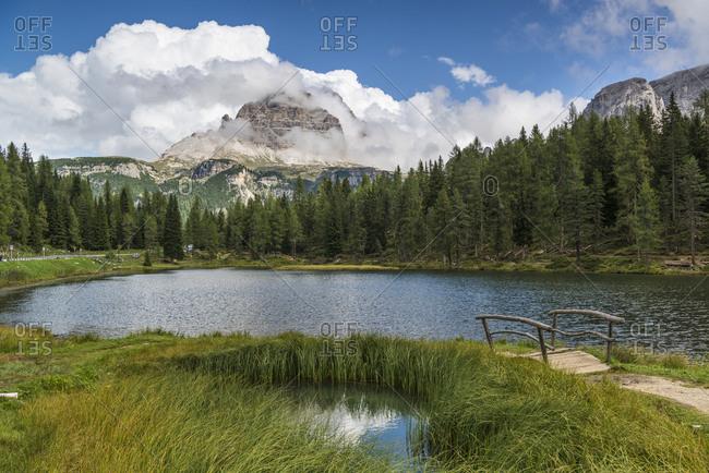 Lake Antorno, Tre Cime Natural Park, Dolomites, South Tyrol, Italy