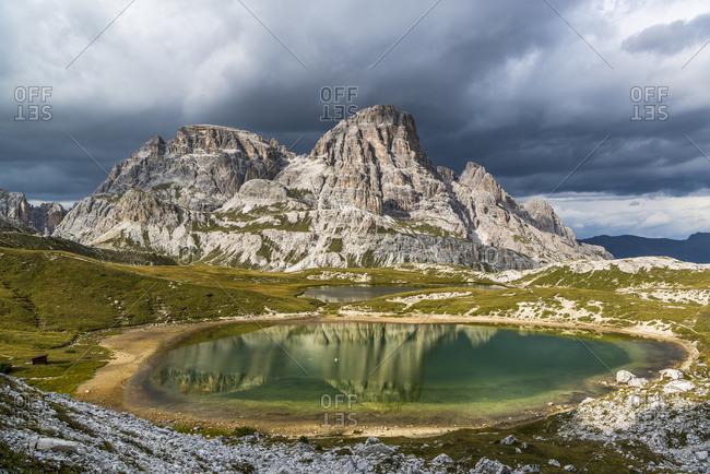 Paternkofel Circuit, Lago dei Piani, Crodon di San Candido, Three Peaks National Park, Dolomites, South Tyrol, Italy