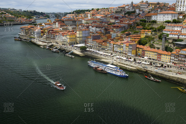 June 27, 2017: Old Town with Ribeira, Porto, Portugal