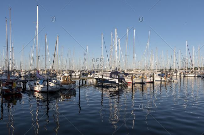 May 27, 2017: Marina, Heiligenhafen, Baltic Sea, Schleswig-Holstein, Germany
