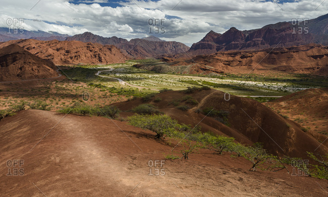 The road from Cachi to San Antonio de los Cobres, in Puna region of Salta in northern Argentina