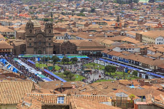 December 24, 2016: Plaza de Armas, Cusco, Peru, South America