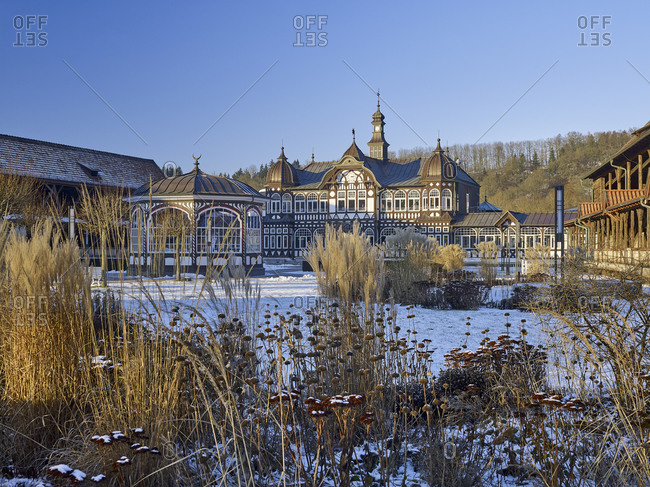 January 6, 2017: Center building of the graduation house in Bad Salzungen, Thuringia, Germany
