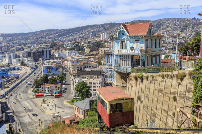 December 10, 2016: Calfulafquen Restaurant and Ascensor Artilleria, Valparaiso, Chile, South America