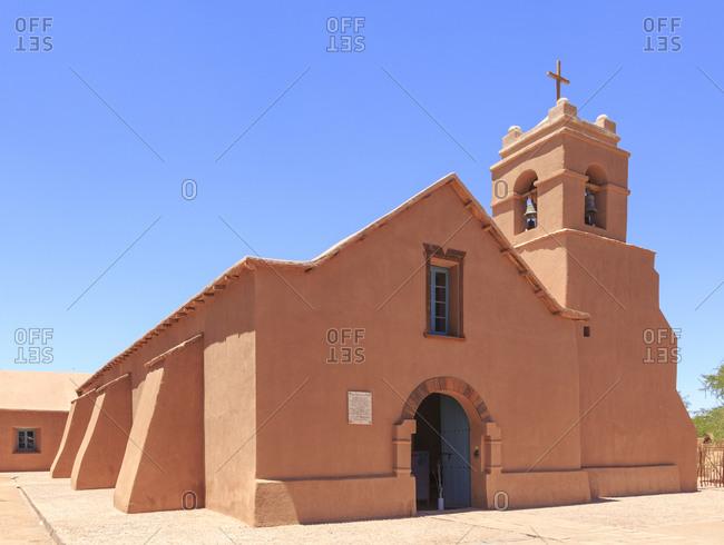 December 13, 2016: Church, San Pedro de Atacama, Chile, South America