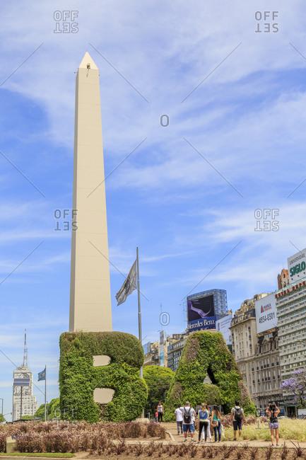 November 19, 2016: Obelisco de Buenos Aires, landmark of Buenos Aires, Argentina, South America