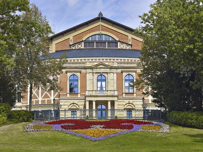 September 10, 2016: Bayreuth Festival Theater, Upper Franconia, Bavaria, Germany