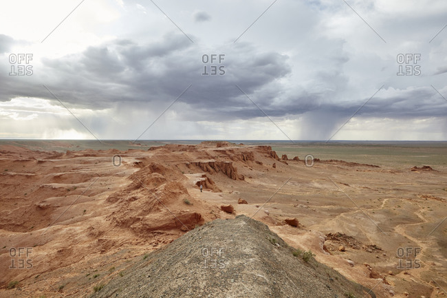 The Flaming Cliffs site in the Gobi Desert of Mongolia