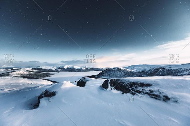 Starry sky at polar night- Kilpisjaervi- Enontekioe- Finland