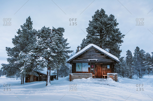 January 15,  2020: Hut Pyhakero in winter- Hetta- Enontekioe- Finland