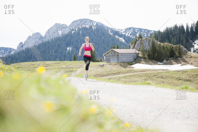 Female jogger- Wallberg- Bavaria- Germany