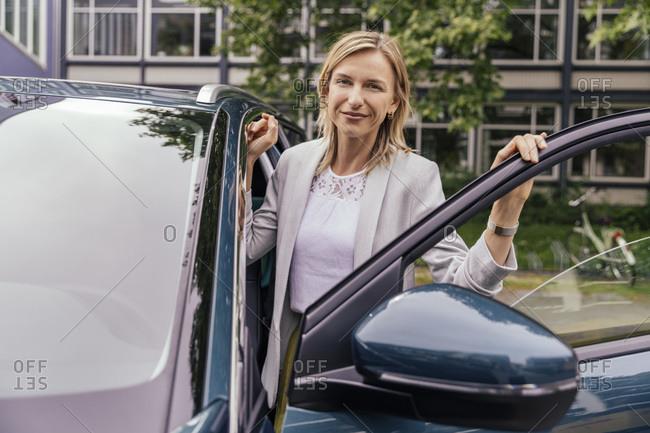 Portrait of smiling car driver