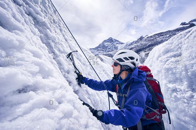Female mountaineer- Glacier Grossvendediger- Tyrol- Austria