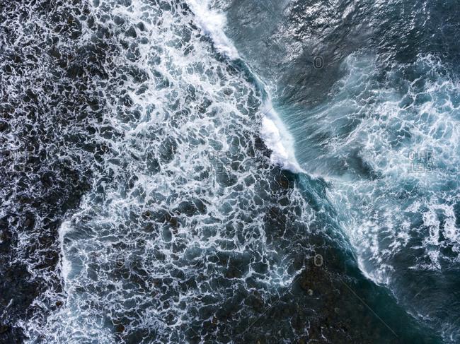 Fierce ocean waves during a storm