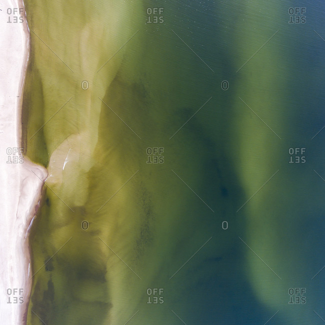 Abstract view of the coastline of the Baltic Sea