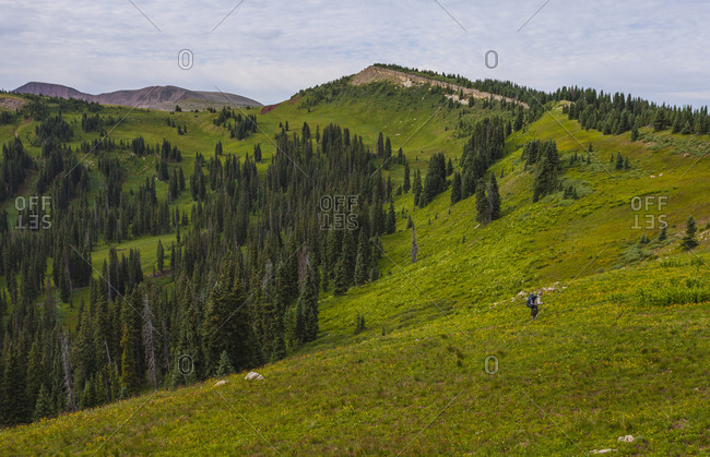 Hiking the Colorado Trail from Silverton to Durango.