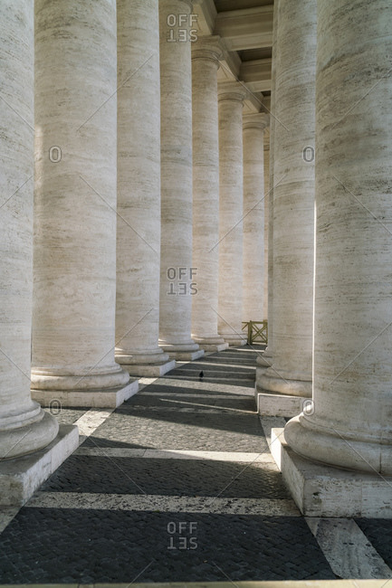 Pillars of the Vatican st Peters Square