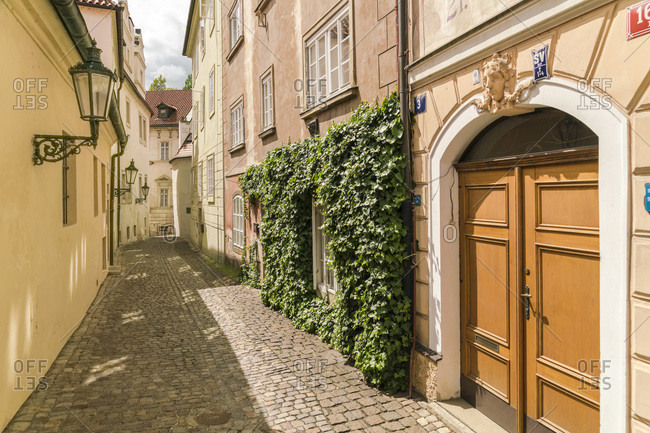 Czech Republic, Praha, Prague - May 9, 2017: Old street in Mala Strana