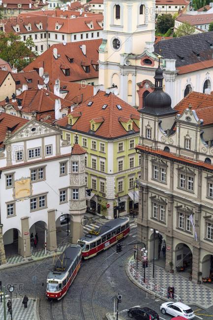 Czech Republic, Praha, Prague - May 9, 2017: Beautiful views in Mala Strana