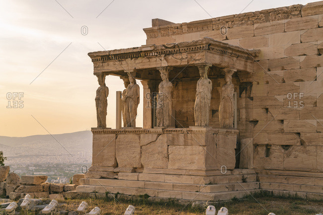 The Hekatompedon Temple by the Acropolis in Athens