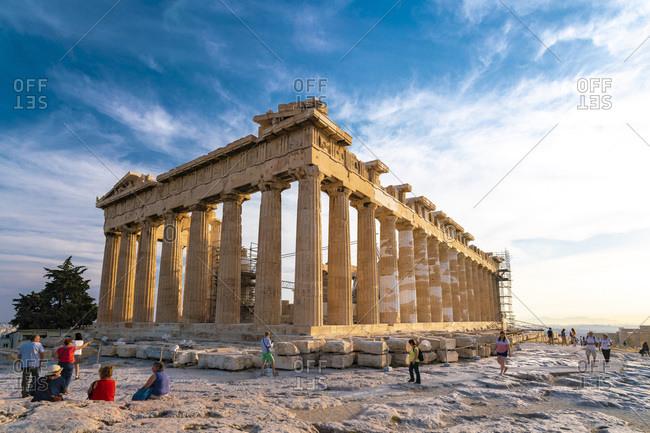 Greece, Attika, Athens - May 4, 2017: The Acropolis in Athens