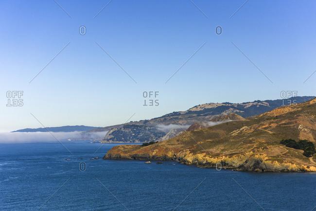 Pacific Ocean coastline, Marin, California, USA