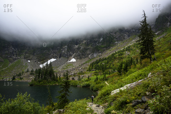 An alpine lake in the Cascade Mountains